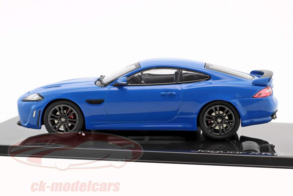 Jaguar XKR-S Opførselsår 2011 french racing blå 1:43 Ixo