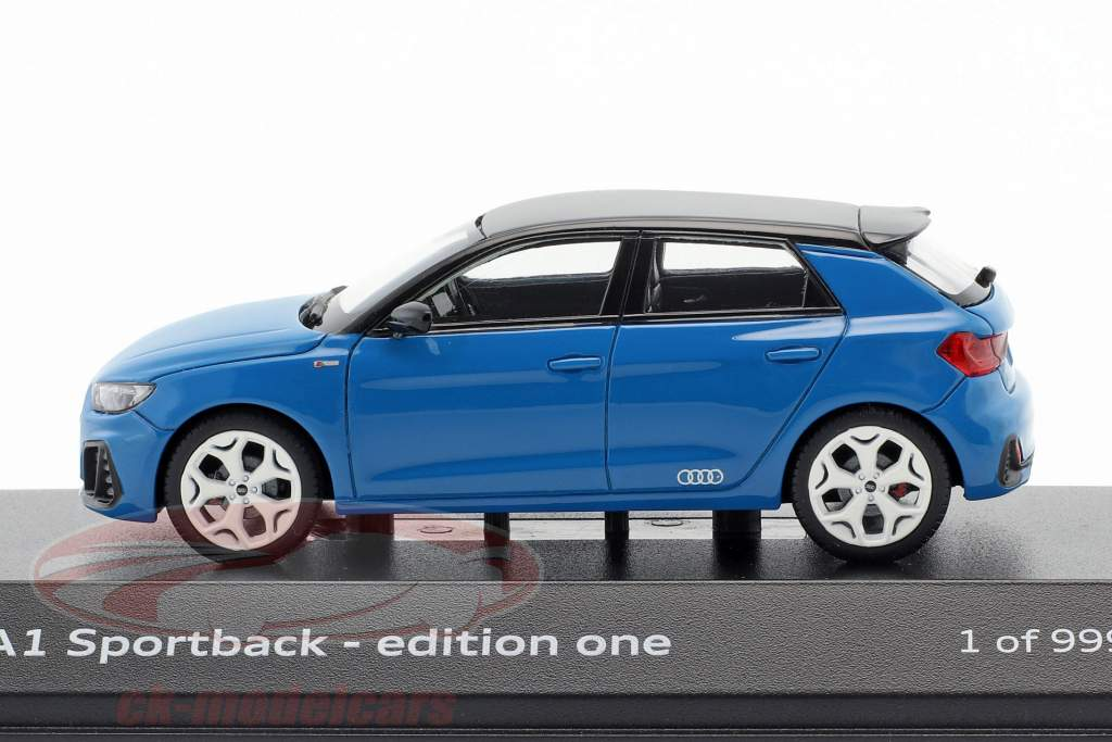 Audi A1 (GB) Sportback 30 TFSI edition one year 2018 turbo blue 1:43 Paragon Models