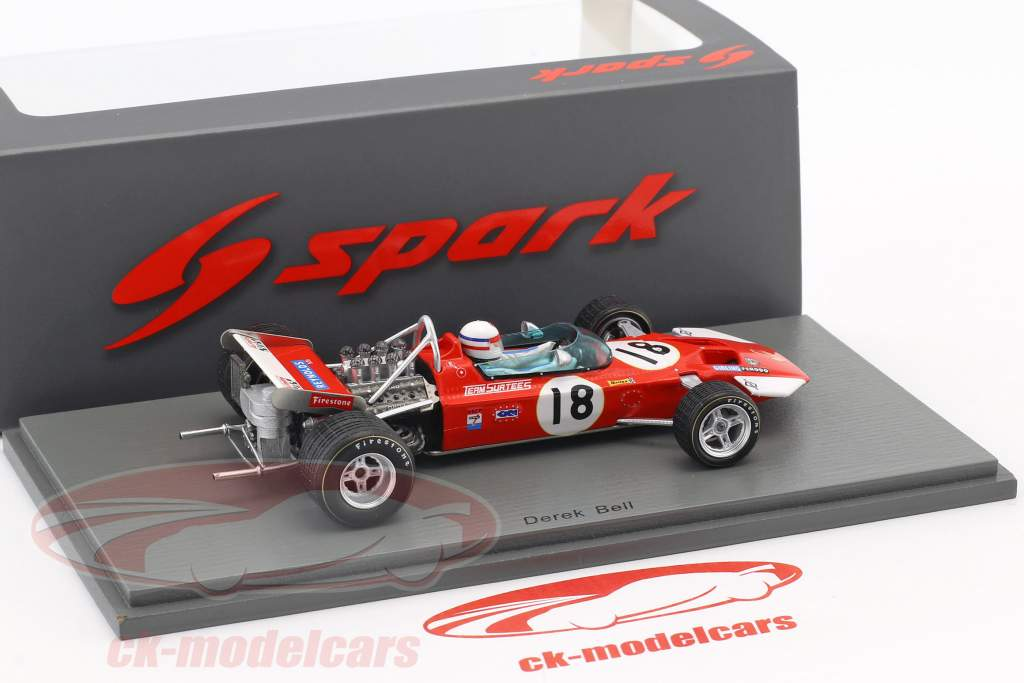 Derek Bell Surtees TS7 #18 6th US GP formula 1 1970 1:43 Spark