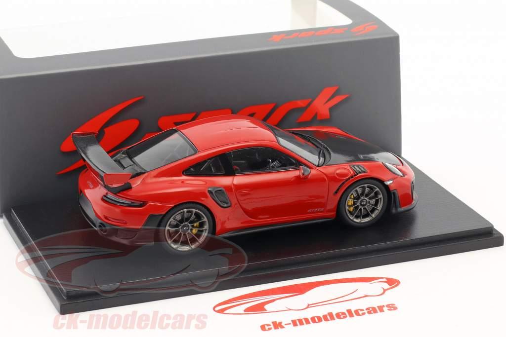 Porsche 911 (991 II) GT2 RS ano de construção 2018 guardas vermelho 1:43 Spark