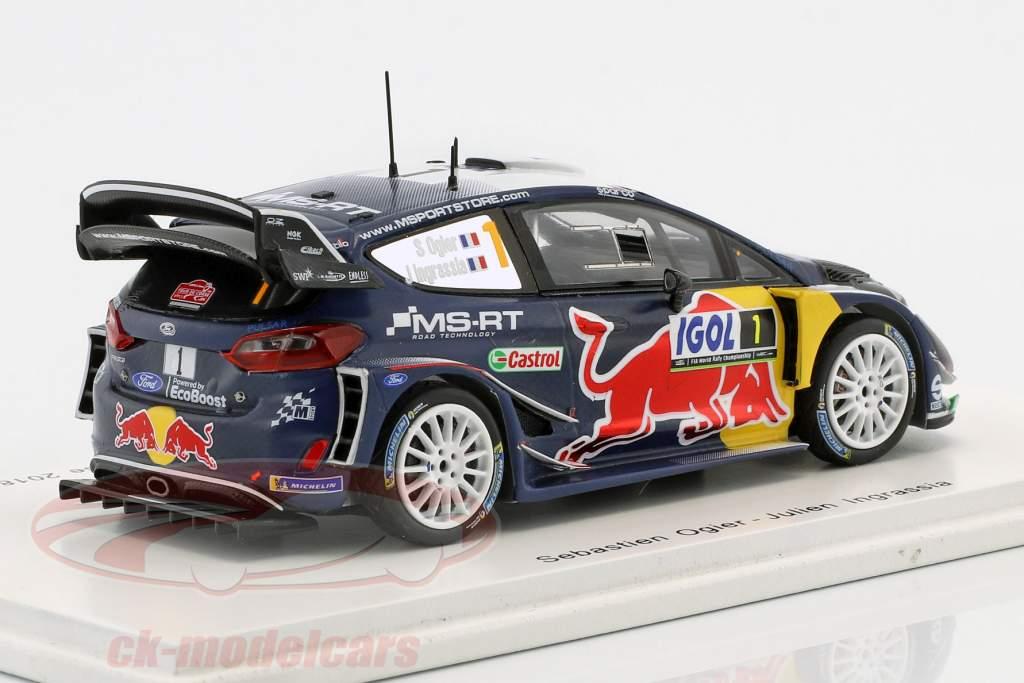 Ford Fiesta WRC #1 gagnant Rallye Tour de Corse 2018 Ogier, Ingrassia 1:43 Spark