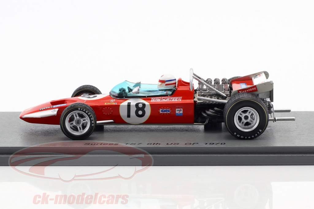 Derek Bell Surtees TS7 #18 6 US GP formule 1 1970 1:43 Spark