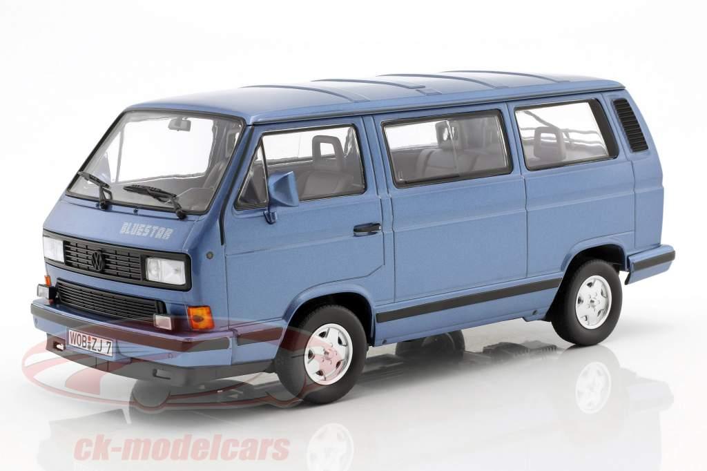 Volkswagen VW T3 Blue Star ano de construção 1990 azul metálico 1:18 Norev