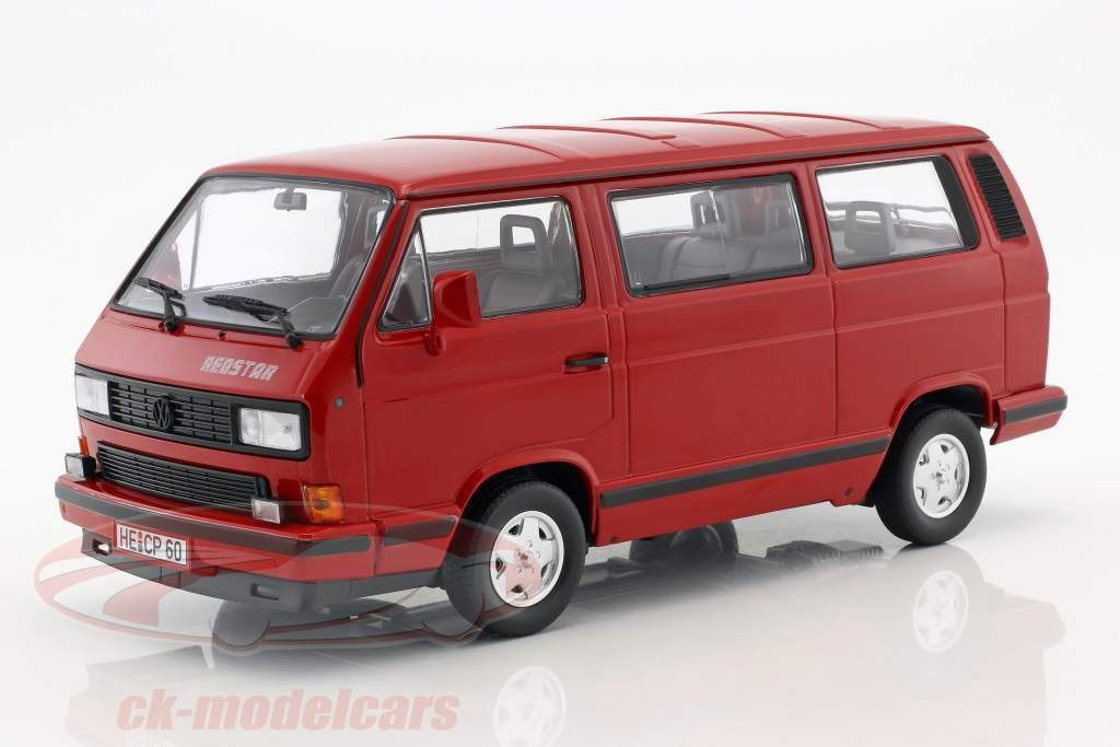 Volkswagen VW T3 Bus Red Star year 1992 red 1:18 Norev
