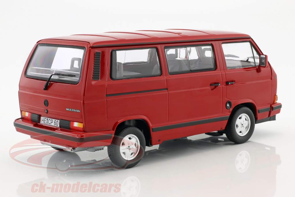 Volkswagen VW T3 Bus Red Star année de construction 1992 rouge 1:18 Norev