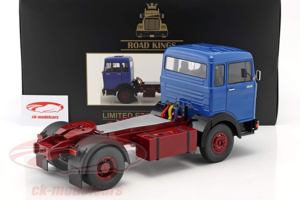 Mercedes-Benz LPS 1632 Traktor Opførselsår 1969 blå / mørk rød 1:18 Road Kings