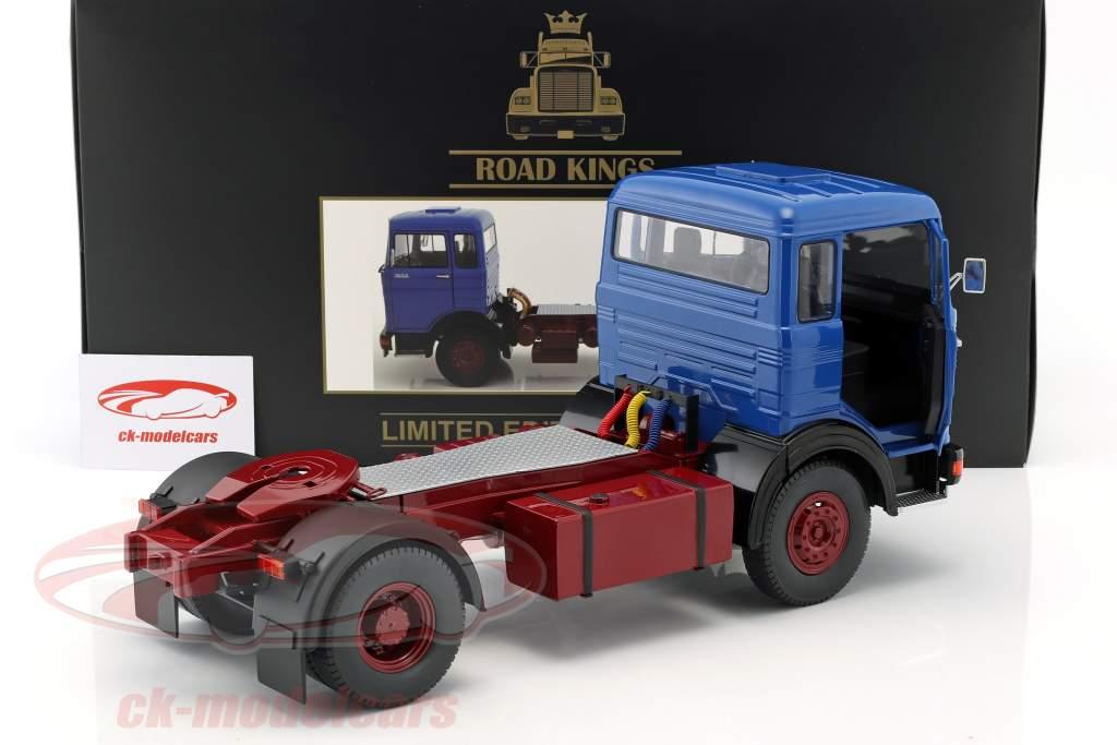 Mercedes-Benz LPS 1632 tractor año de construcción 1969 azul / oscuro rojo 1:18 Road Kings