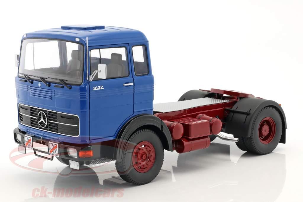 Mercedes-Benz LPS 1632 trator ano de construção 1969 azul / escuro vermelho 1:18 Road Kings