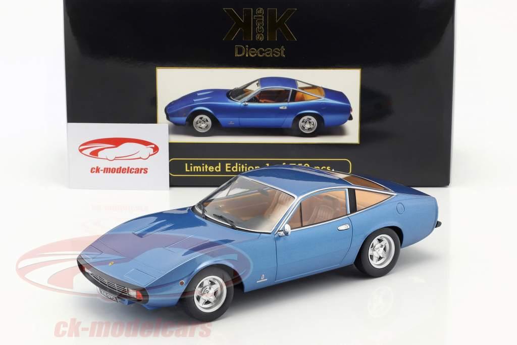Ferrari 365 GTC/4 year 1971 blue metallic 1:18 KK-Scale
