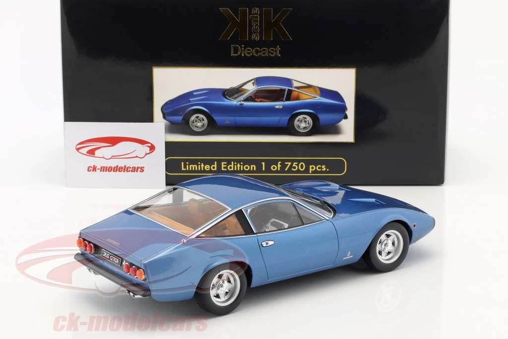 Ferrari 365 GTC/4 ano de construção 1971 azul metálico 1:18 KK-Scale
