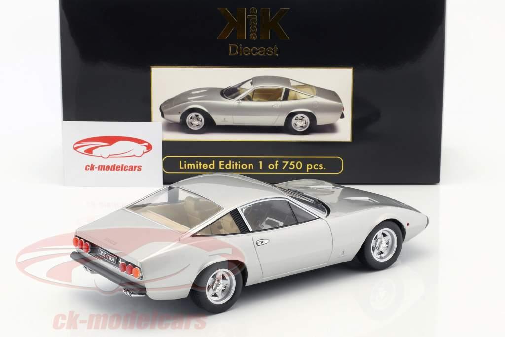 Ferrari 365 GTC/4 Opførselsår 1971 sølv 1:18 KK-Scale