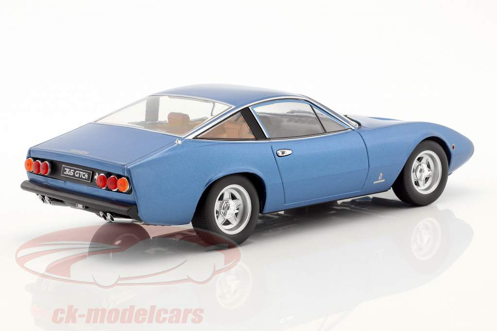 Ferrari 365 GTC/4 year 1971 blue metallic 1:18 KK-Scale