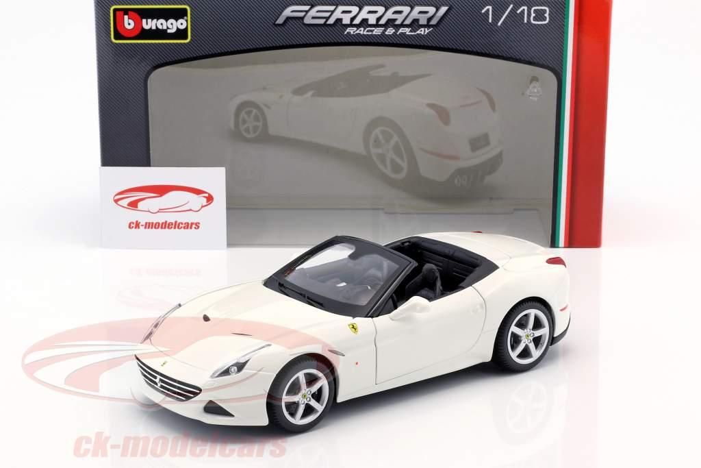 Ferrari California T Open Top year 2014 white 1:18 Bburago
