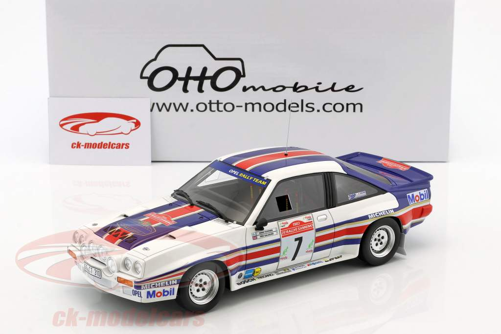 Opel Manta 400R Gr.B #7 4 Rallye SanRemo 1983 Toivonen, Gallagher 1:18 OttOmobile