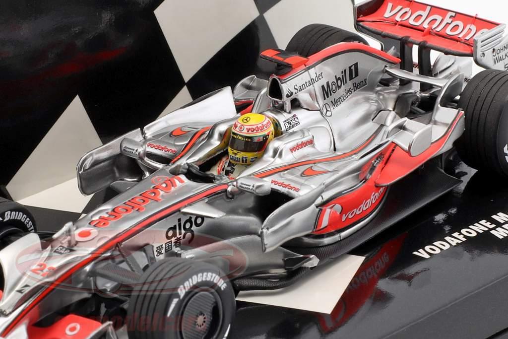Lewis Hamilton McLaren MP4-23 #22 Brazil GP formula 1 2008 1:43 Minichamps