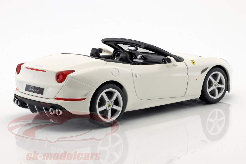 Ferrari California T Open Top année de construction 2014 blanc 1:18 Bburago