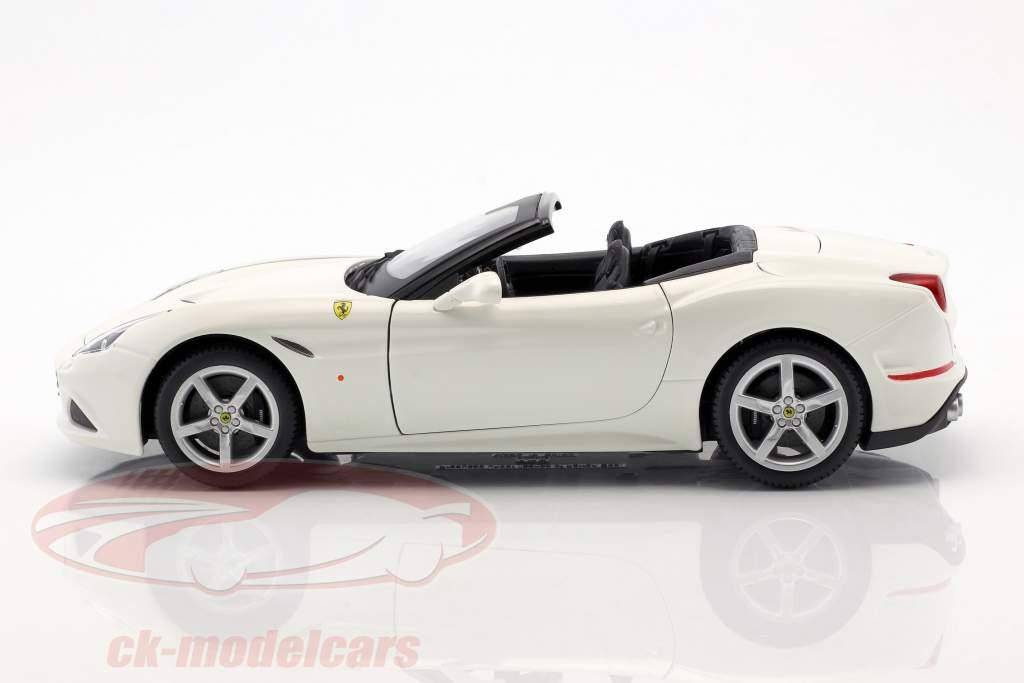 Ferrari California T Open Top ano de construção 2014 branco 1:18 Bburago