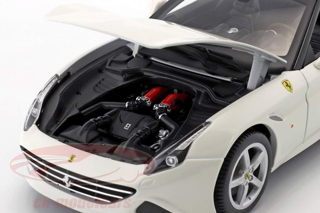 Ferrari California T Open Top Opførselsår 2014 hvid 1:18 Bburago