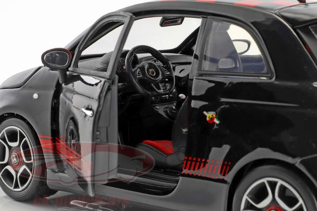 Fiat Abarth 500 black / red 1:18 Bburago
