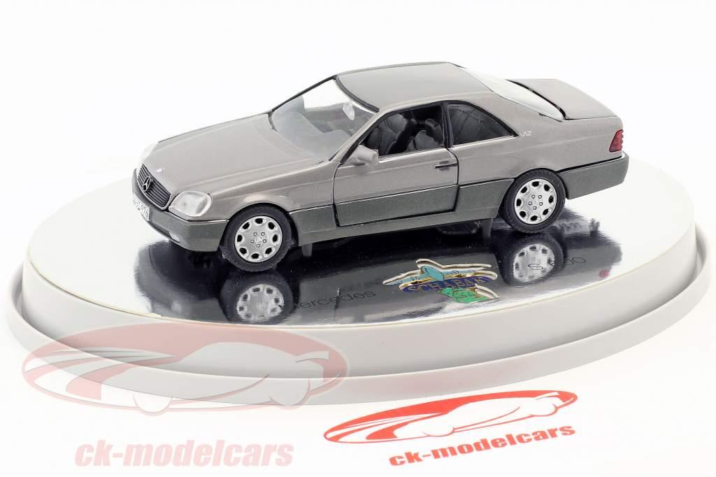 Mercedes-Benz 600 SEC Coupe (C 140) année de construction 1992 – 1993 argent métallique 1:43 Schabak