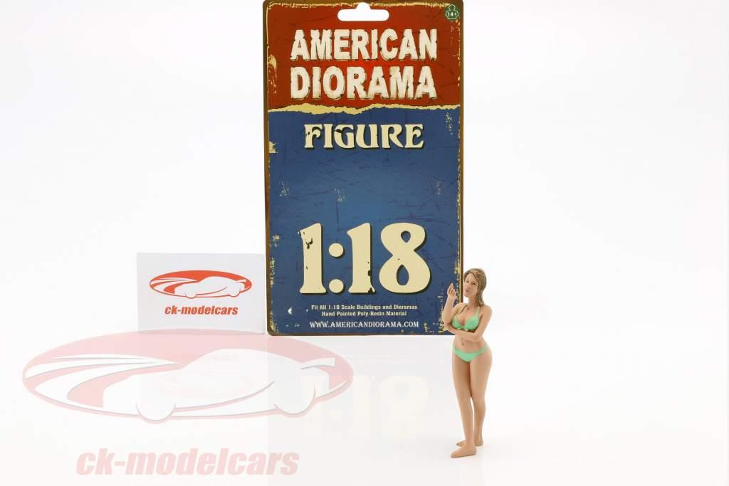 Calendar Girl Agosto em bikini 1:18 American Diorama
