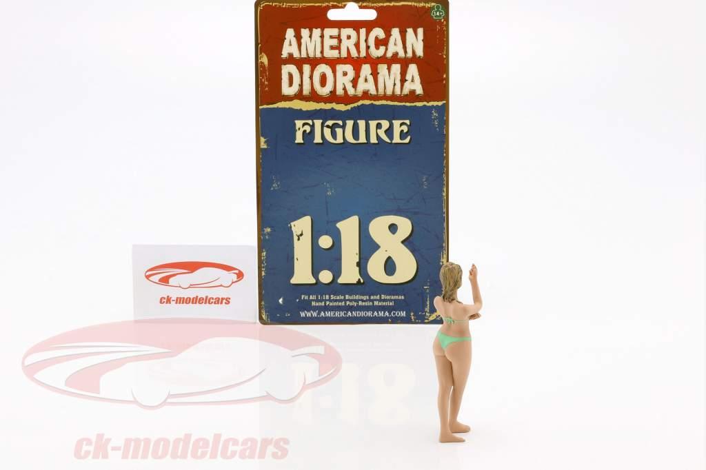 calendar girl août en bikini 1:18 American Diorama