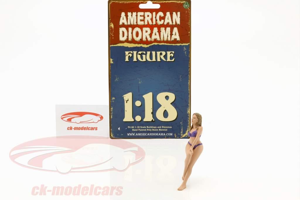 Kalender Girl juli i bikini 1:18 American Diorama