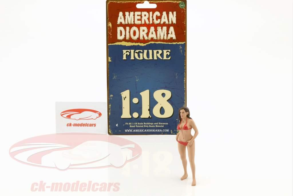 calendar girl octobre en bikini 1:18 American Diorama
