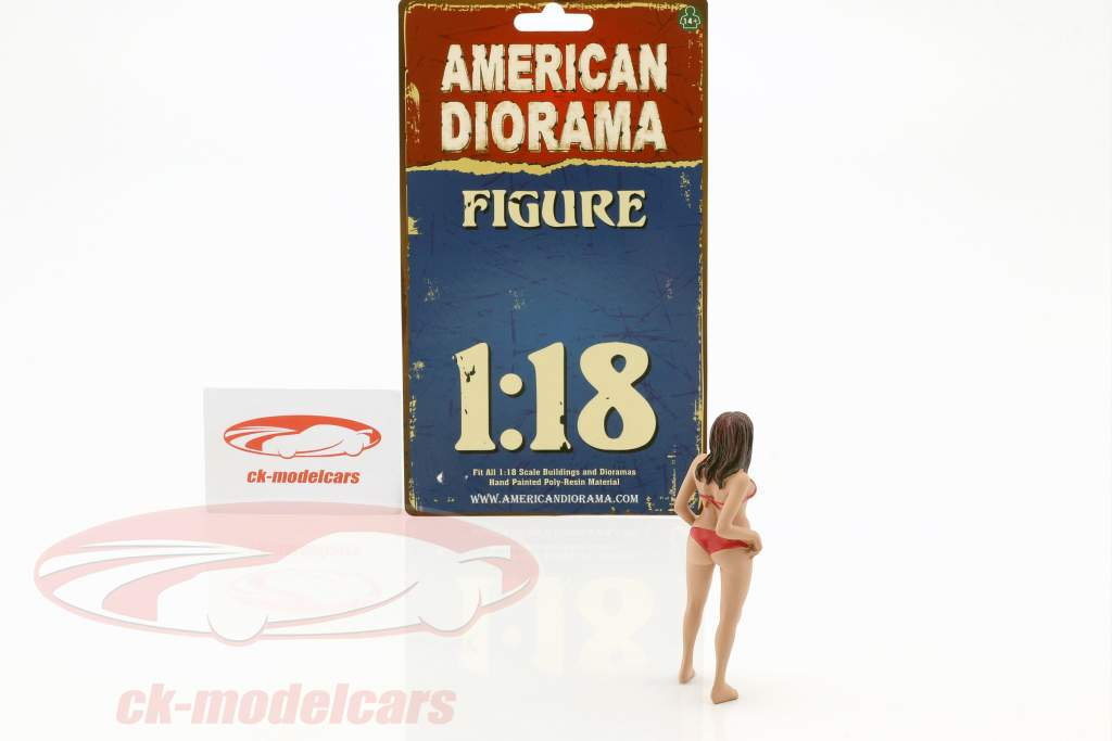 Calendar Girl ottobre in bikini 1:18 American Diorama