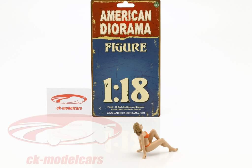 Calendar Girl november in bikini 1:18 American Diorama