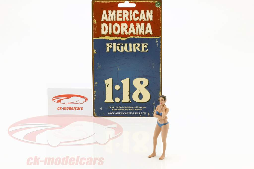 La chica del calendario diciembre en bikini 1:18 American Diorama