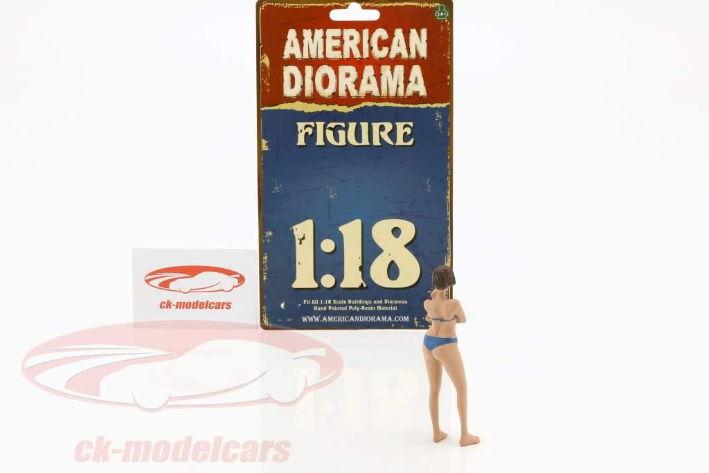 calendar girl décembre en bikini 1:18 American Diorama