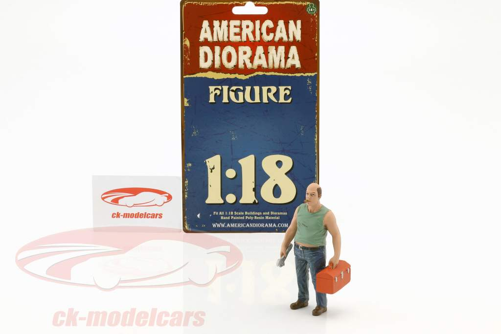mechanic Sam with toolbox figure 1:18 American Diorama