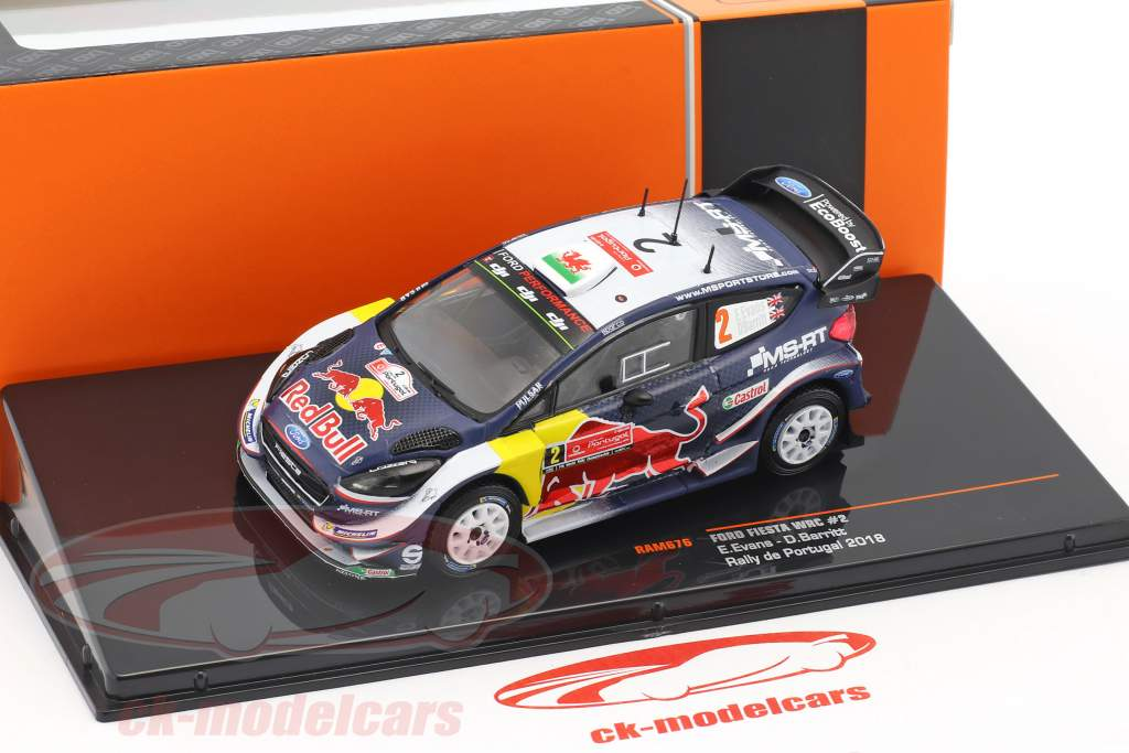 Ford Fiesta WRC #2 2nd rally Portugal 2018 Evans, Barritt 1:43 Ixo