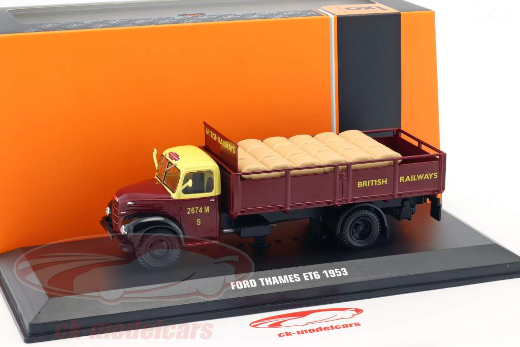 Ford Thames ET6 British Rail year 1953 dark red 1:43 Ixo