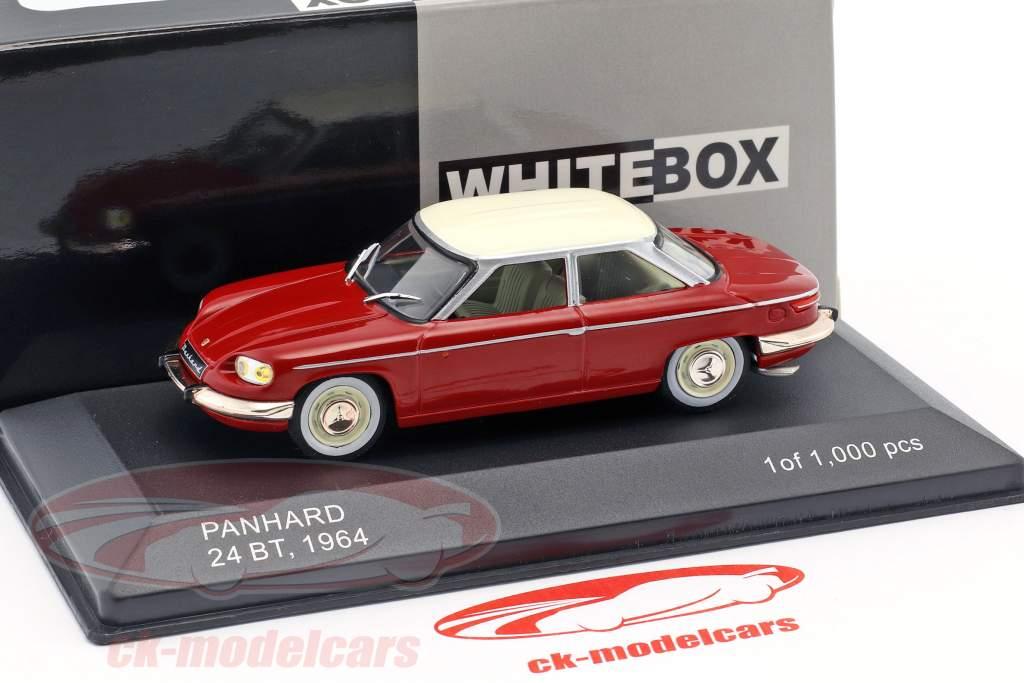 Panhard 24 BT ano de construção 1964 vermelho / creme branco 1:43 WhiteBox