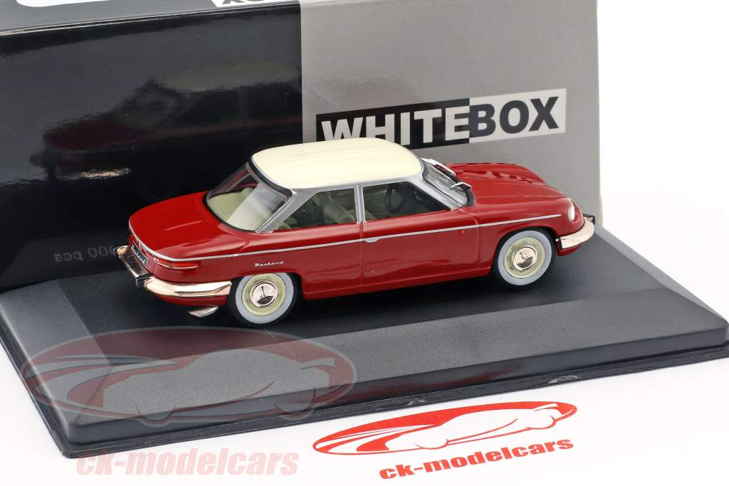 Panhard 24 BT Opførselsår 1964 rød / creme hvid 1:43 WhiteBox