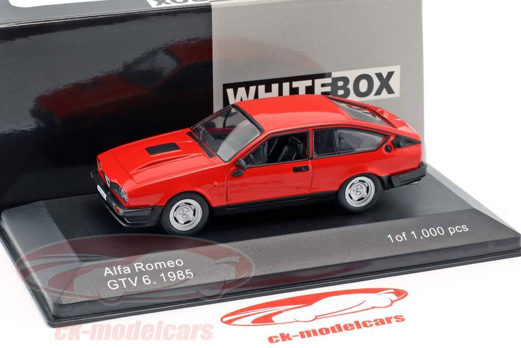 Alfa Romeo GTV6 année de construction 1985 rouge 1:43 WhiteBox
