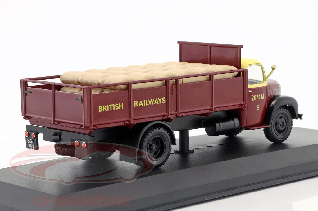 Ford Thames ET6 British Rail Opførselsår 1953 mørk rød 1:43 Ixo