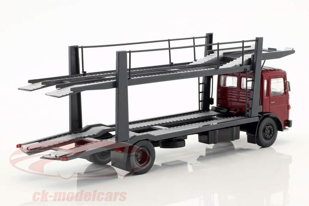 MAN transportador de carro com trailer ano de construção 1970 vermelho / cinza 1:43 Ixo