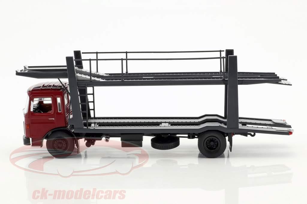 MAN autotransporter med trailer Opførselsår 1970 rød / grå 1:43 Ixo