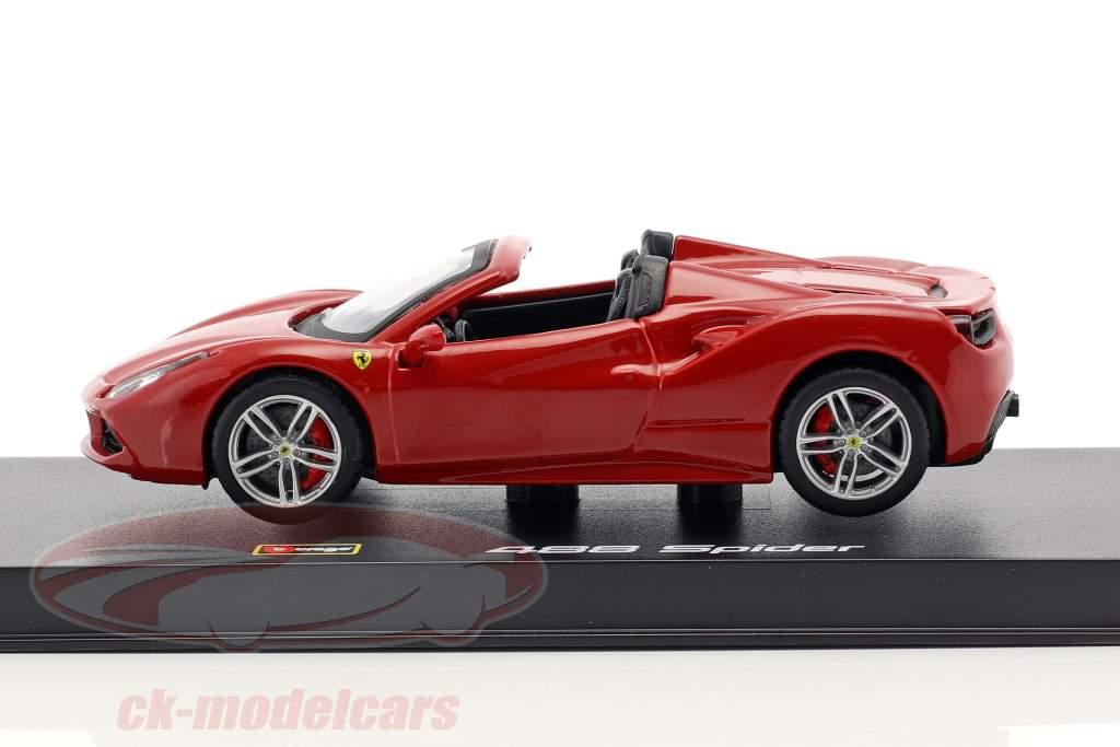 Ferrari 488 Spider Opførselsår 2015 rød 1:43 Bburago