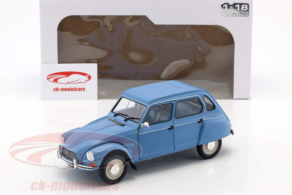Citroen Dyane 6 Construction year 1974 myosotis blue 1:18 Solido
