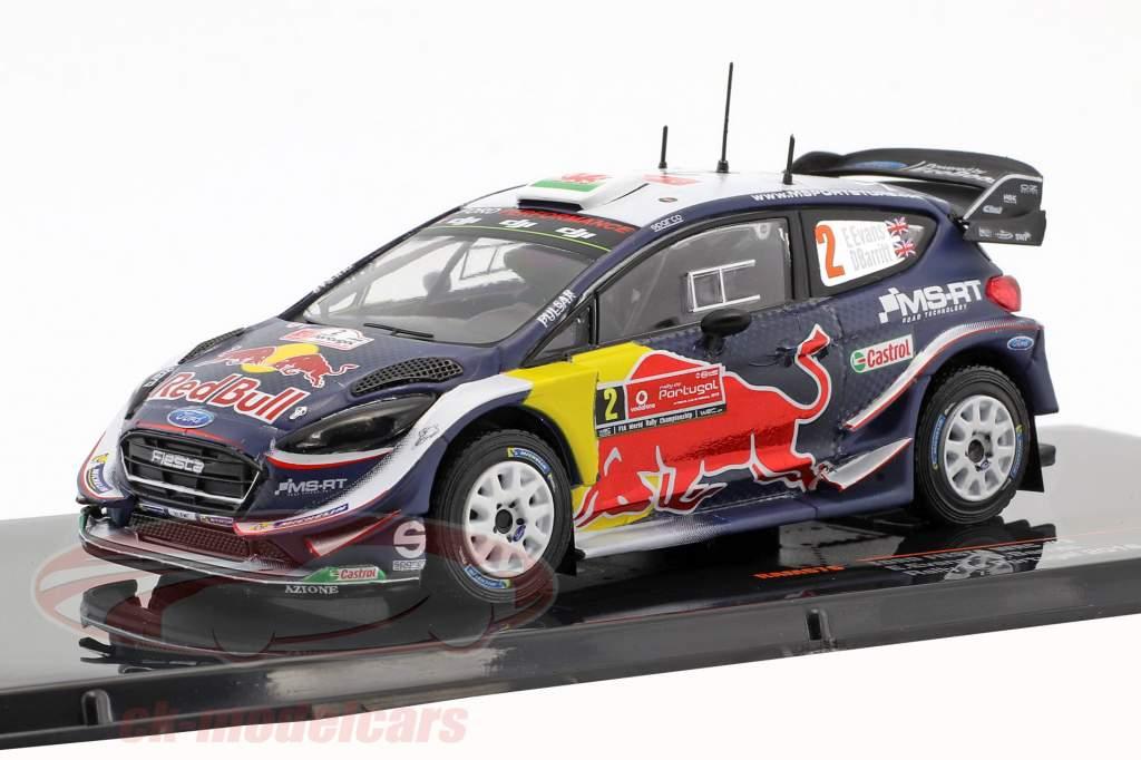 Ford Fiesta WRC #2 2º rali Portugal 2018 Evans, Barritt 1:43 Ixo