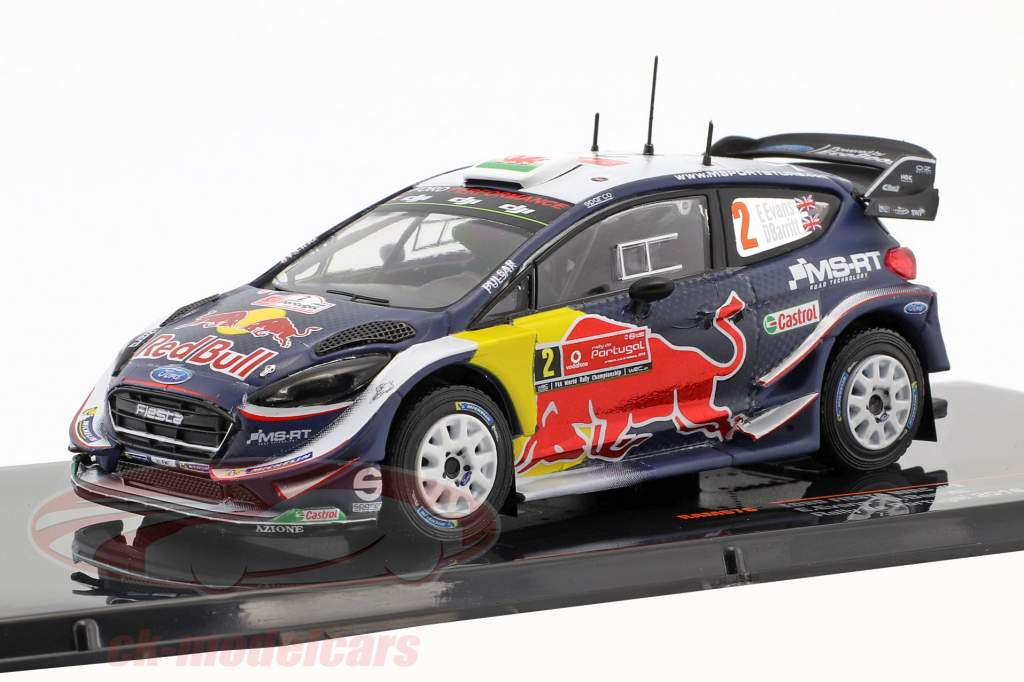 Ford Fiesta WRC #2 2 rassemblement Portugal 2018 Evans, Barritt 1:43 Ixo