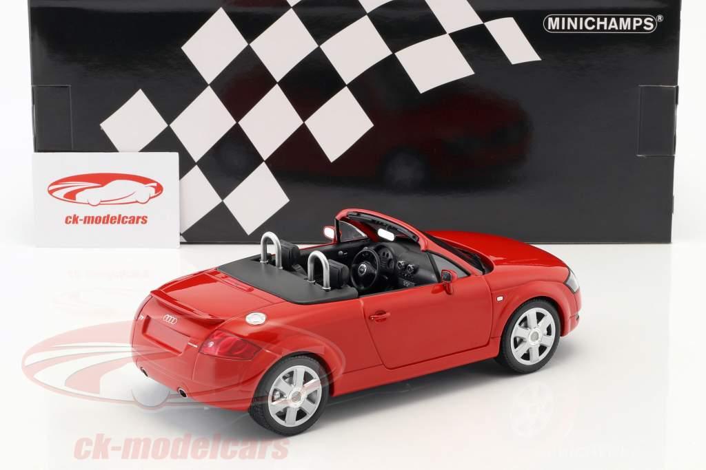 Audi TT (8N) Roadster ano de construção 1999 vermelho 1:18 Minichamps