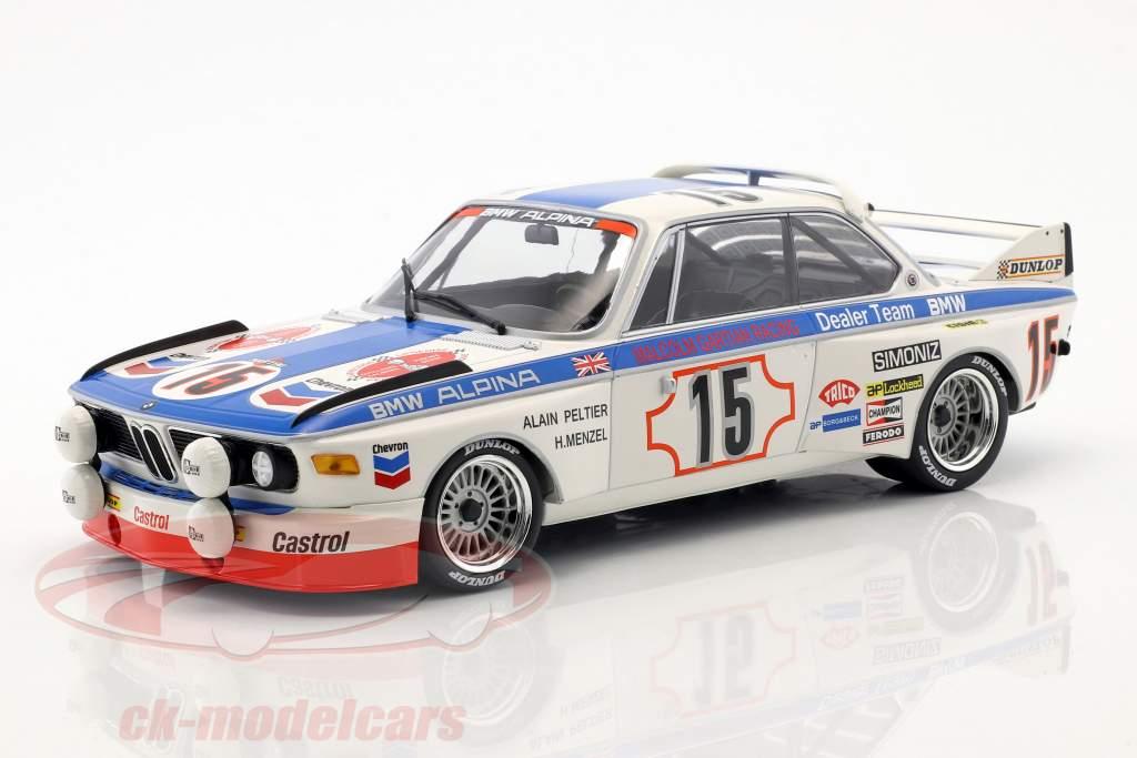 BMW 3.0 CSL #15 24h Spa 1973 Peltier, Menzel 1:18 Minichamps