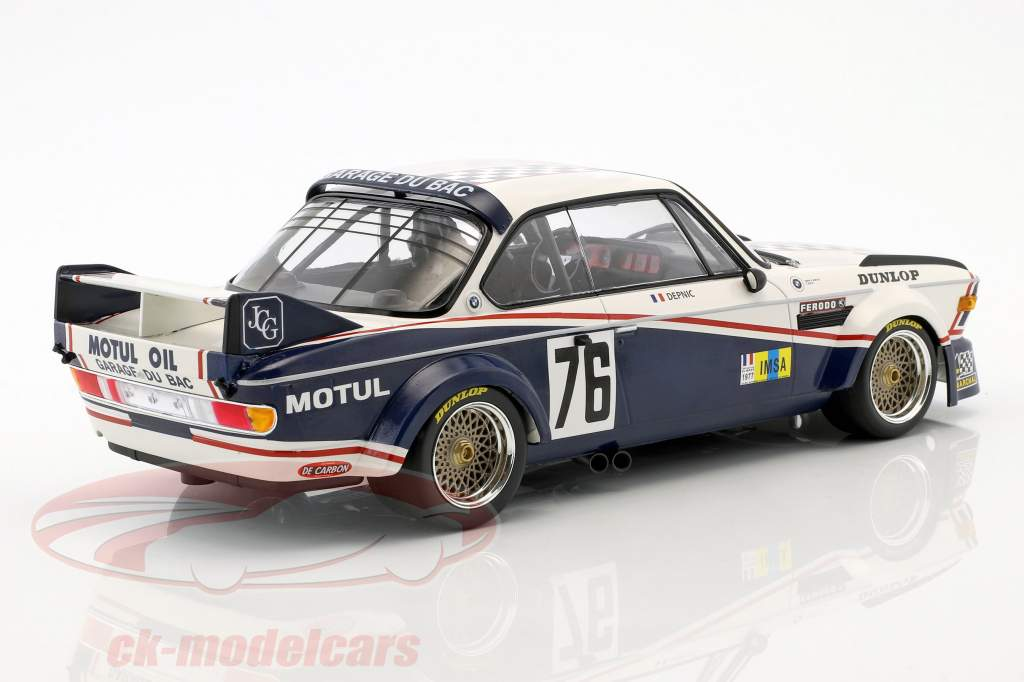 BMW 3.0 CSL #76 24h LeMans 1977 Depnic, Coulon 1:18 Minichamps