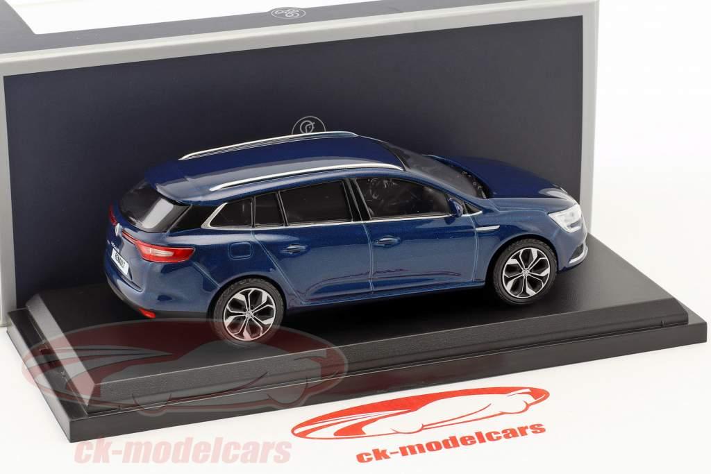 Renault Megane Estate year 2016 cosmos blue metallic 1:43 Norev