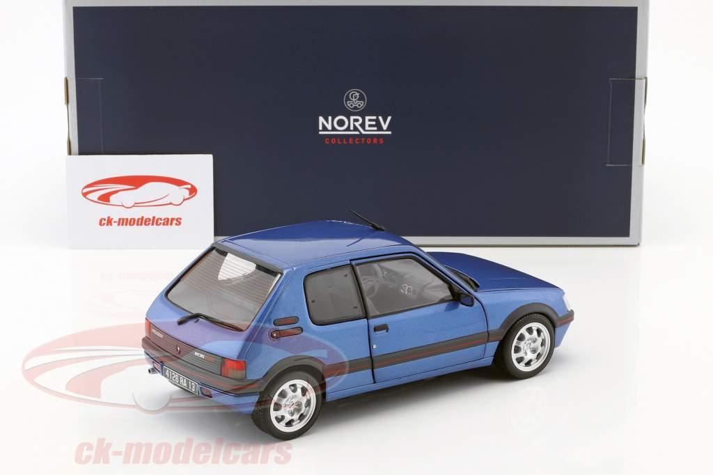 Peugeot 205 GTi 1.9 ano de construção 1992 miami azul 1:18 Norev